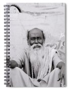 Hindu Holyman In Benares Spiral Notebook