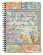 Hint Of Spring Butterfly 1 Spiral Notebook