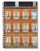 Historic Facade At Plaza Mayor In Madrid Spiral Notebook