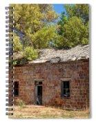 Historic Ruined Brick Building In Rural Farming Community - Utah Spiral Notebook