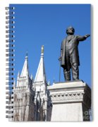 Historic Salt Lake Mormon Lds Temple And Brigham Young Spiral Notebook