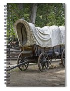 Historical Frontier Covered Wagon Spiral Notebook