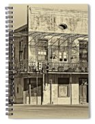 History Lesson Sepia Spiral Notebook