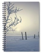 Hoar Frost Covering Trees And Barbed Spiral Notebook