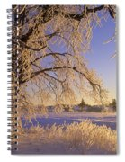 Hoar Frost On Tree, Milton, Prince Spiral Notebook