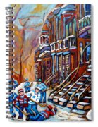 Hockey Art Montreal Streets Spiral Notebook