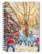 Hockey Game Near Winding Staircases Spiral Notebook