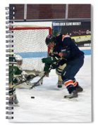 Hockey One On Four Spiral Notebook