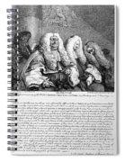 Hogarth: Judges, 1758 Spiral Notebook