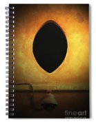 Hole In The Wall With Lamp Spiral Notebook