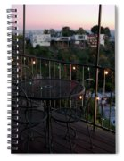 Holiday Deck At Dusk Spiral Notebook