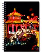 Holiday Lights 9 Spiral Notebook