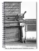 Hollerith Tabulator, 1890 Spiral Notebook