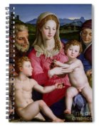 Holy Family With St Anne And The Infant St John The Baptist Spiral Notebook