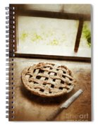 Home Made Pie Cooling By Open Window Spiral Notebook