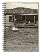 Home Sweet Home Sepia Spiral Notebook