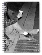 Homeless With Faithful Companion Spiral Notebook