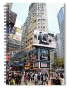 Hong Kong Crowd Spiral Notebook