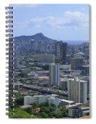 Honolulu And Diamond Head Spiral Notebook