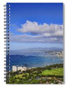 Honolulu From Diamond Head Spiral Notebook