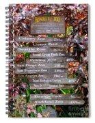 Honolulu Zoo Signs Spiral Notebook