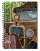 Hood Ornament Disney Bear Spiral Notebook