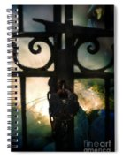 Hooded Figure By A Fire Spiral Notebook