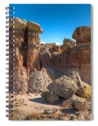 Hoodoos At Gooseberry Desert Wyoming Spiral Notebook