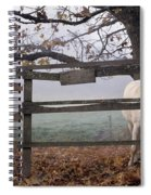Horse At Fence Spiral Notebook