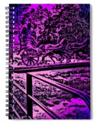Horse Drawn Carriage In The Snow Spiral Notebook