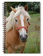 Horse Friend Birthday Spiral Notebook