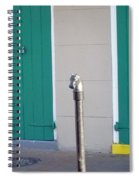 Horse Head Post With Green Doors Spiral Notebook