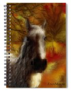 Horse On The Farm Spiral Notebook