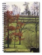 Horse On The Pasture Spiral Notebook