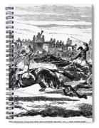 Horse Racing, 1857 Spiral Notebook