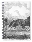 Horse Racing, 1862 Spiral Notebook