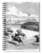 Horse Racing, 1870 Spiral Notebook