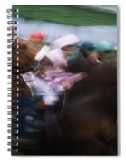 Horse Racing Horses Breaking From The Spiral Notebook