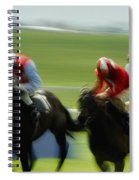 Horse Racing, Ireland Jockeys Racing Spiral Notebook