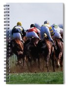 Horse Racing Rear View Of Horses Racing Spiral Notebook