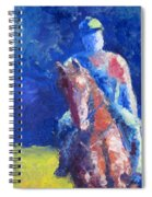 Horse Rider Spiral Notebook