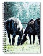 Horse Tails Color Splashed Spiral Notebook