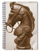 Horse Tether In New Orleans - Sepia Spiral Notebook