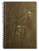Horseback In The Garden Spiral Notebook