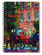 Horsedrawn Carriage Spiral Notebook