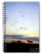 Horses And Sky Spiral Notebook