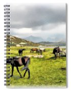 Horses Of Wyoming Spiral Notebook