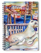 Horses On The Grand Canal Of Venice Spiral Notebook