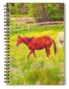 Horses Paradise Spiral Notebook