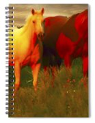 Horses Soft And Sweet Spiral Notebook